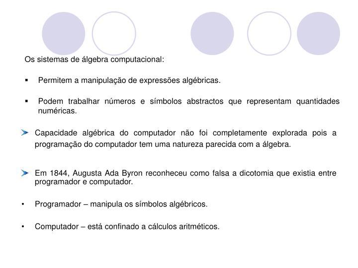 Os sistemas de álgebra computacional:
