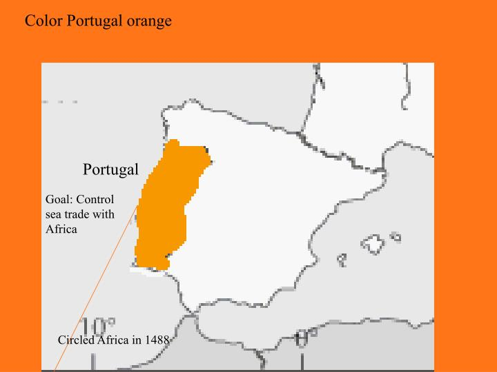 Color Portugal orange