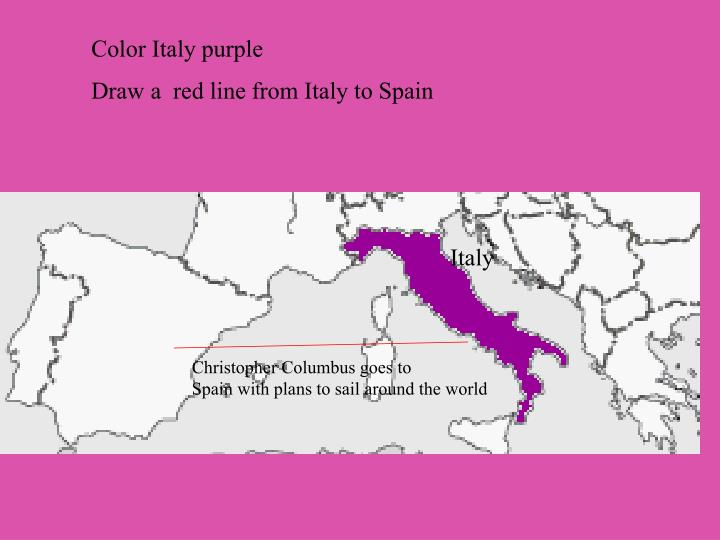 Color Italy purple