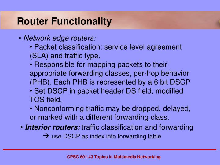 Router Functionality