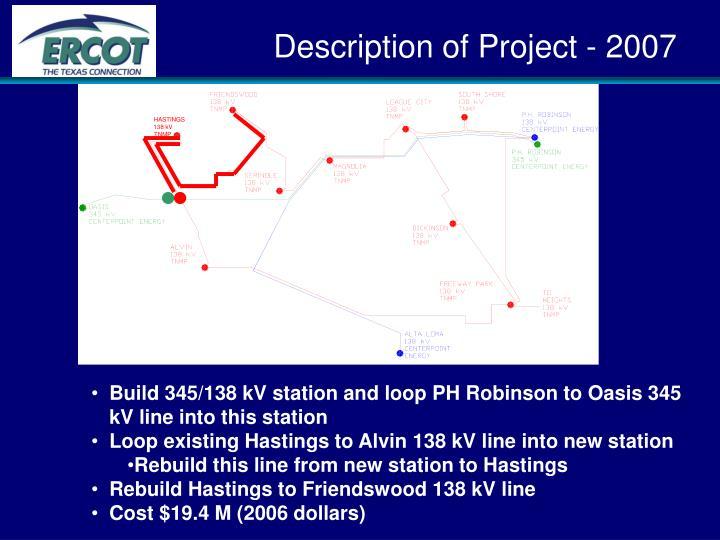 Description of Project - 2007