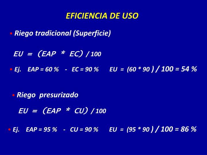 EFICIENCIA DE USO