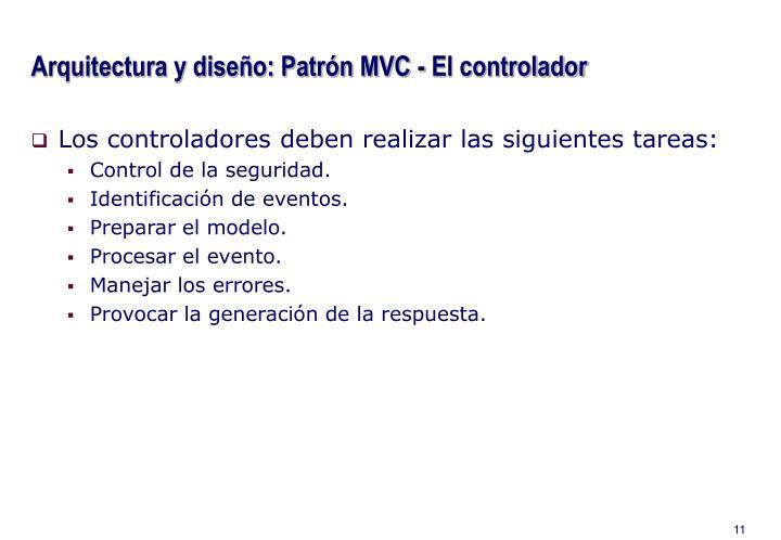 Arquitectura y diseño: Patrón MVC - El controlador