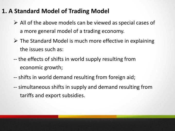 1. A Standard Model of Trading Model