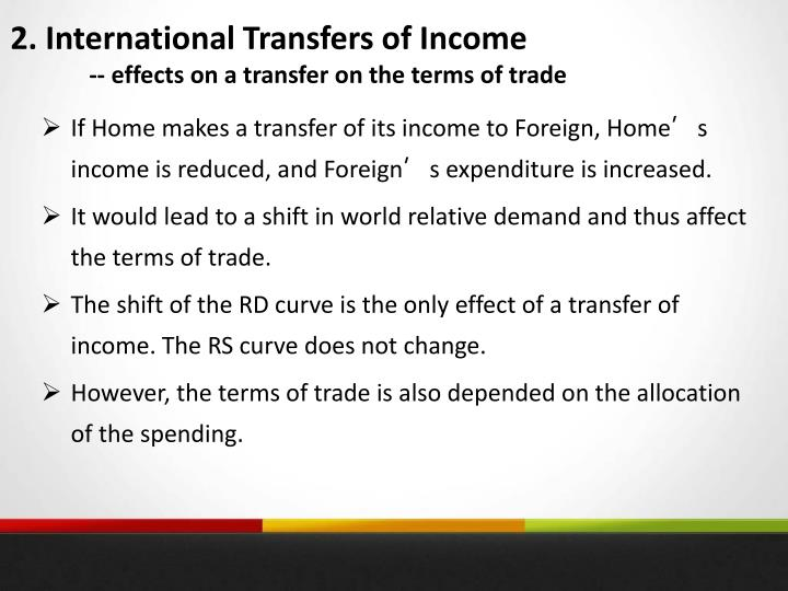 2. International Transfers of Income