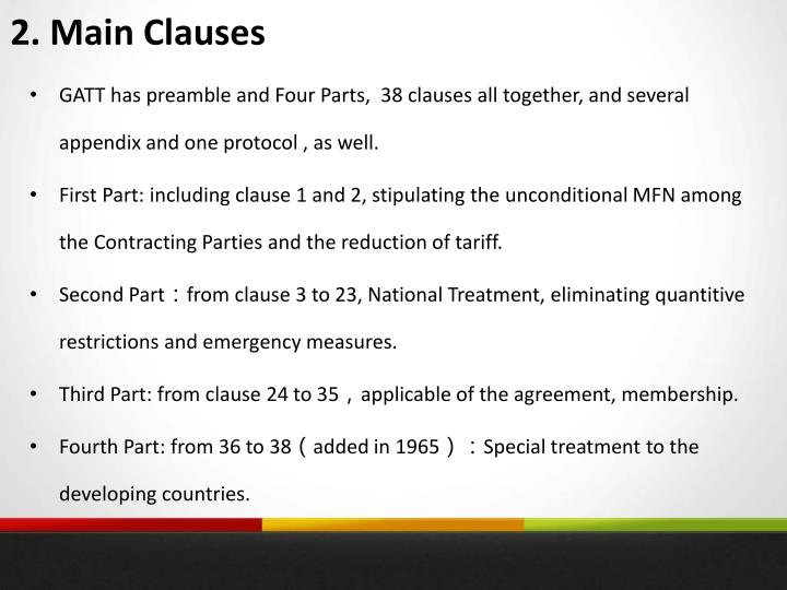 2. Main Clauses