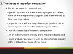 2 the theory of imperfect competition