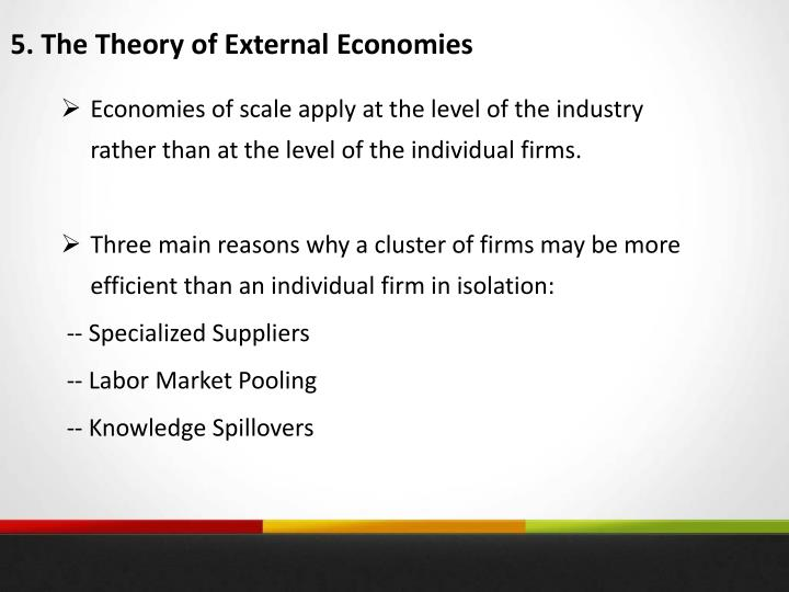 5. The Theory of External Economies