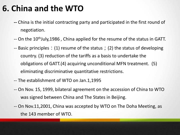 6. China and the WTO