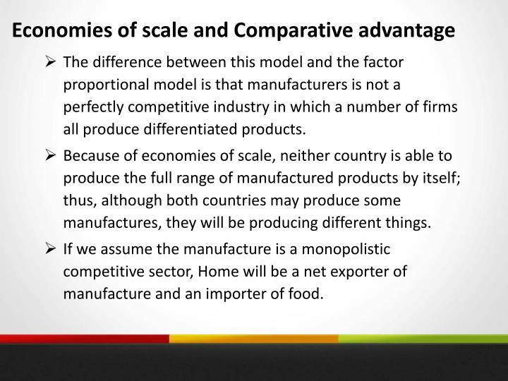 Economies of scale and Comparative advantage