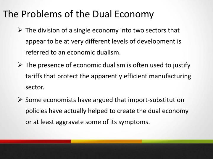 The Problems of the Dual Economy