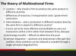 the theory of multinational firms
