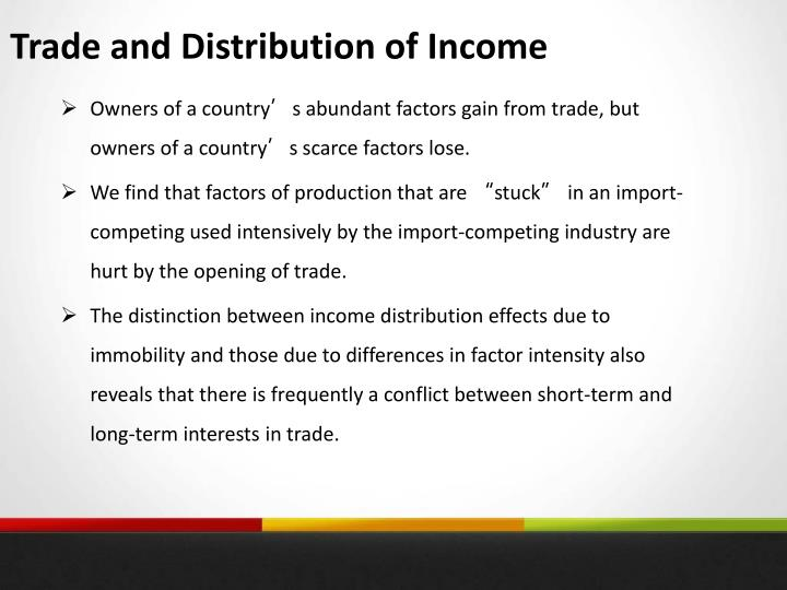 Trade and Distribution of Income