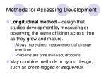 methods for assessing development1