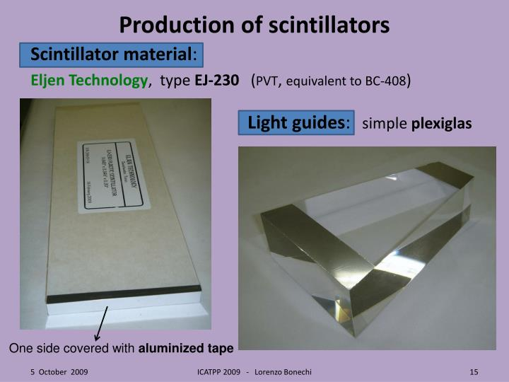 Production of scintillators