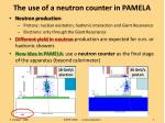 the use of a neutron counter in pamela