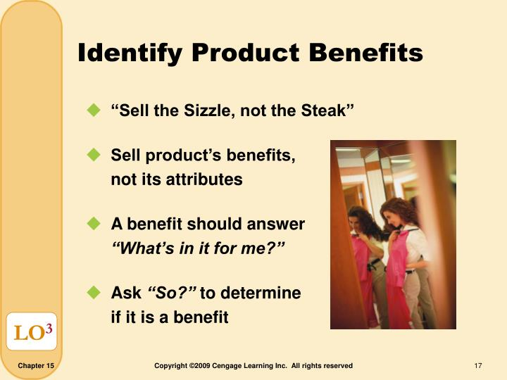 Identify Product Benefits