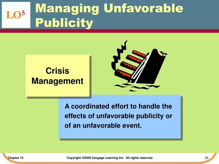 A coordinated effort to handle the effects of unfavorable publicity or of an unfavorable event.