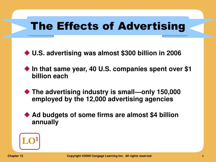 U.S. advertising was almost $300 billion in 2006