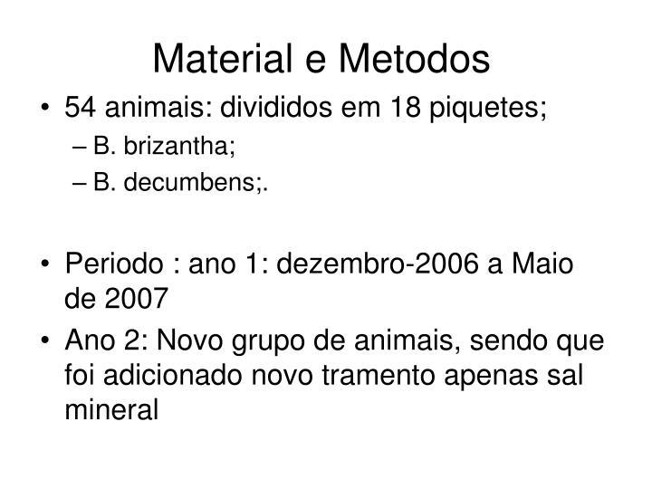 Material e Metodos