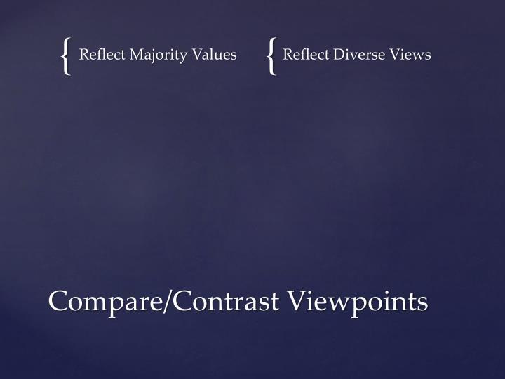 Reflect Majority Values