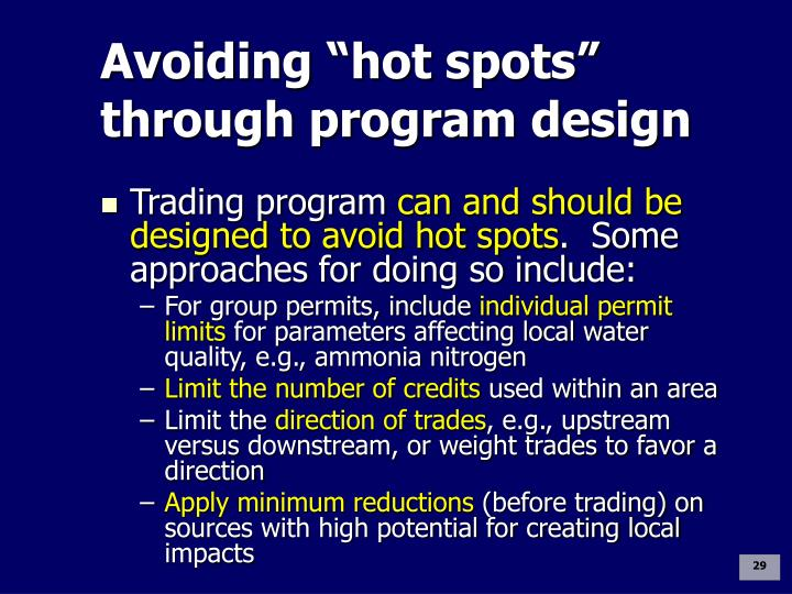 "Avoiding ""hot spots"" through program design"