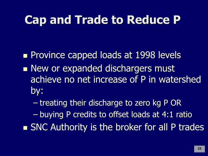 Cap and Trade to Reduce P