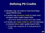 defining ps credits