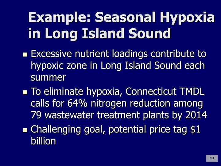 Example: Seasonal Hypoxia in Long Island Sound