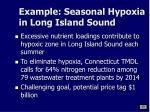 example seasonal hypoxia in long island sound