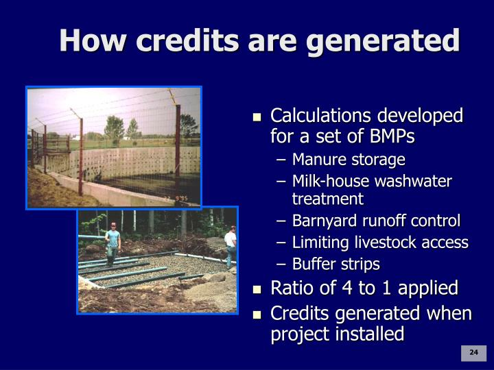 How credits are generated