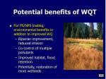 potential benefits of wqt1