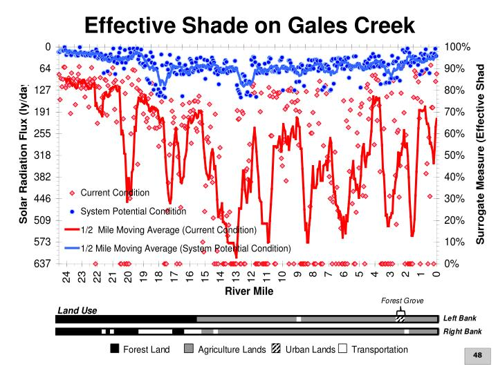 Effective Shade on Gales Creek
