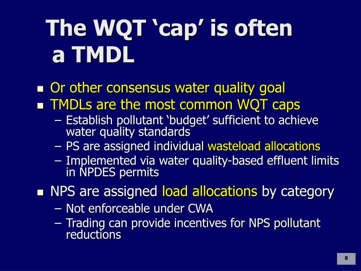 The WQT 'cap' is often