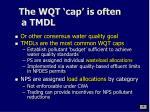 the wqt cap is often a tmdl