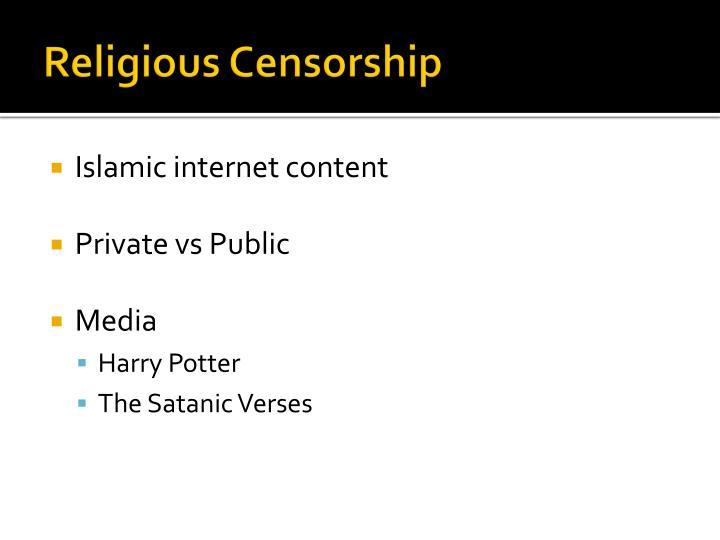 Religious Censorship