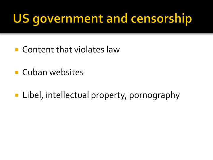 US government and censorship