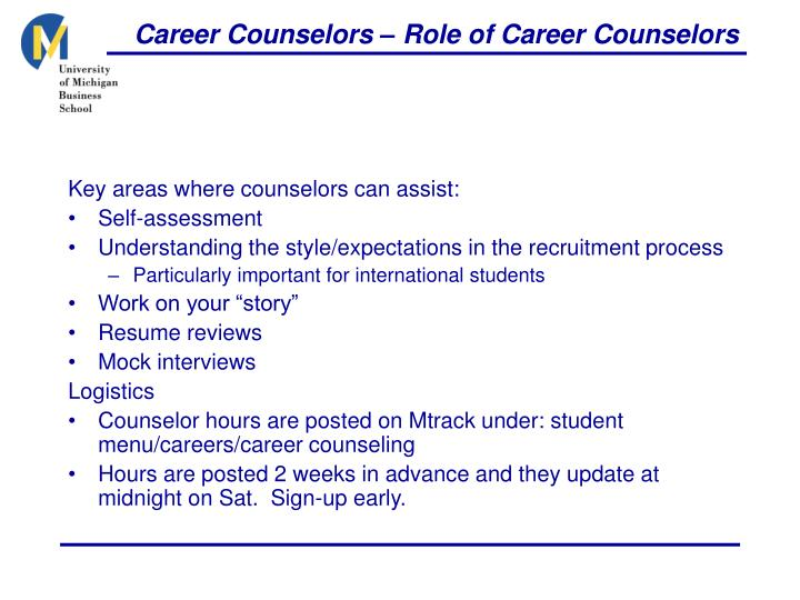 Career Counselors – Role of Career Counselors
