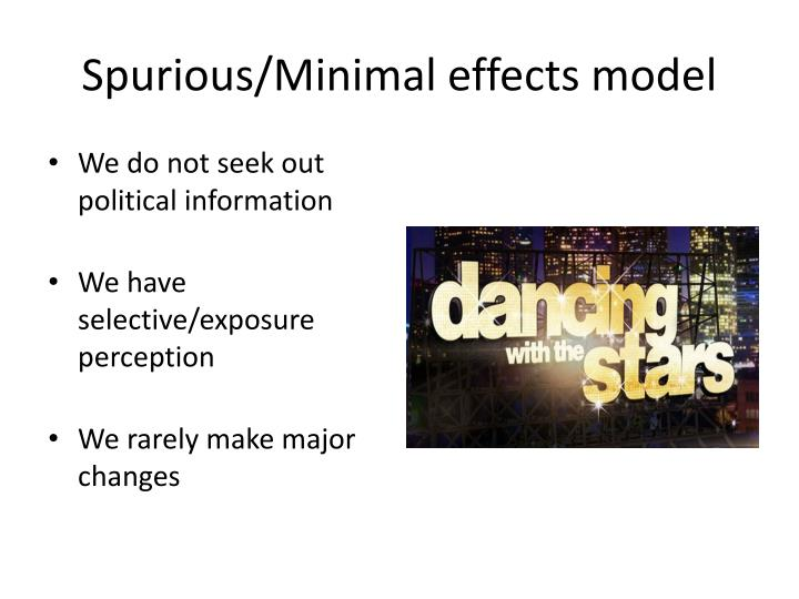 Spurious/Minimal effects model