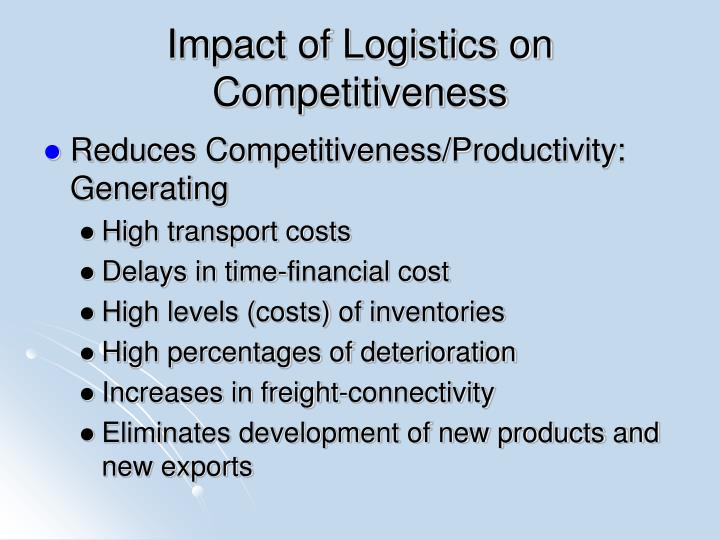 Impact of Logistics on Competitiveness