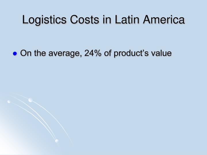 Logistics Costs in Latin America