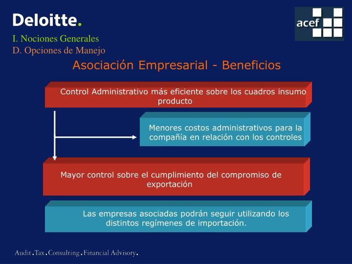 Menores costos administrativos para la
