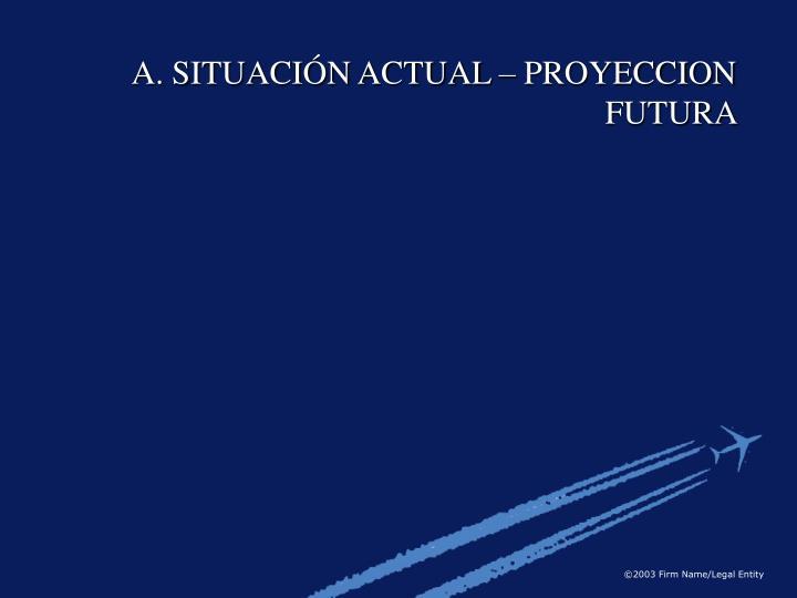 A. SITUACIÓN ACTUAL – PROYECCION FUTURA