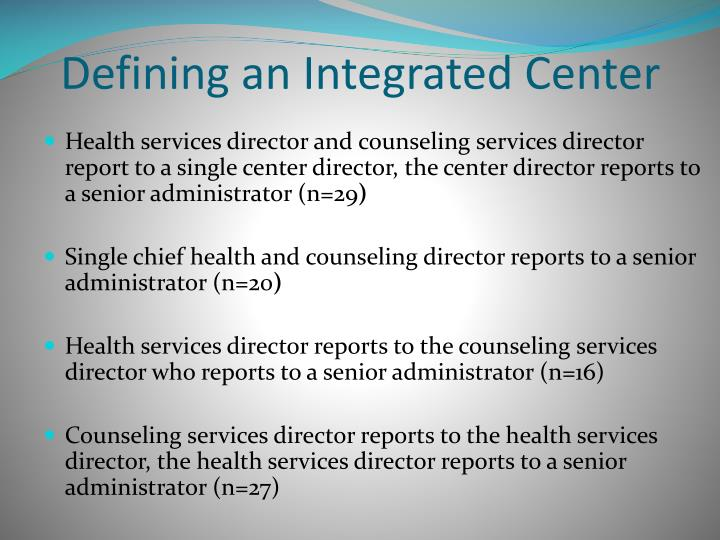 Defining an Integrated Center