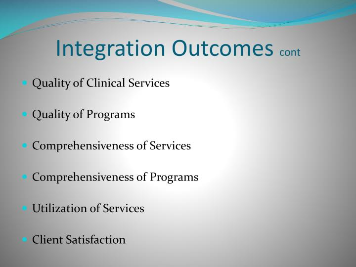 Integration Outcomes