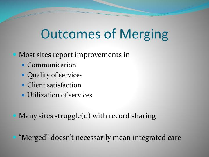 Outcomes of Merging