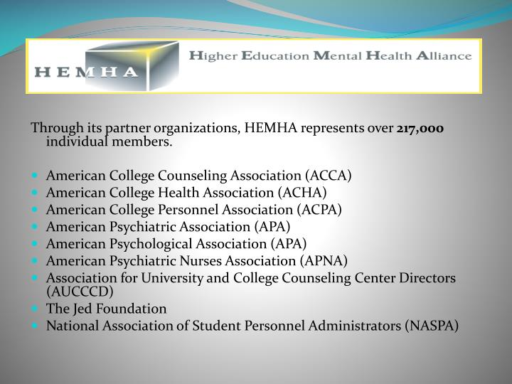 Through its partner organizations, HEMHA represents over