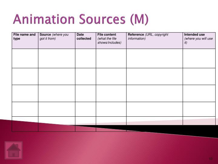 Animation Sources (M)