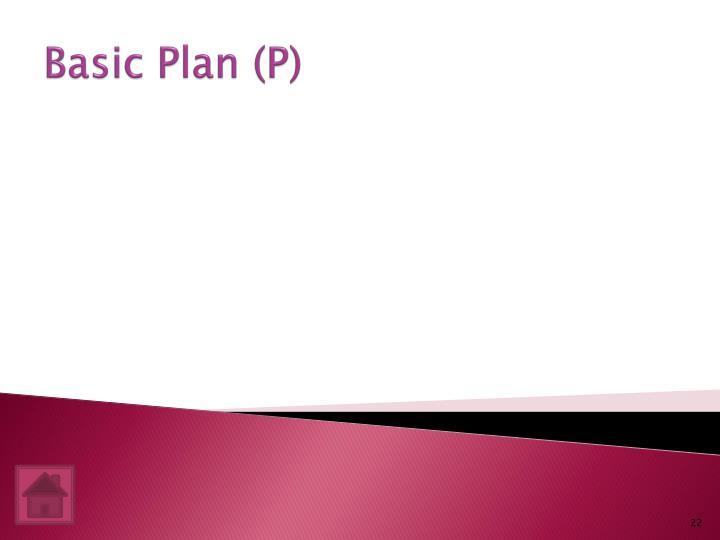 Basic Plan (P)