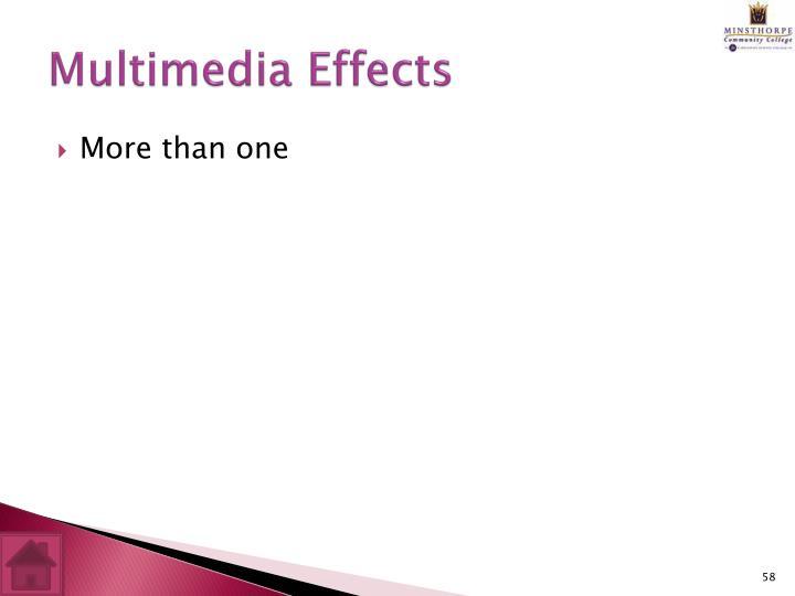 Multimedia Effects